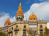 stock photo of pon  - Cases Pons in Barcelona Spain - JPG