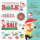 picture of year end sale  - Christmas sale design elements - JPG