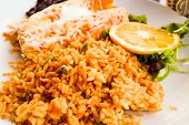 picture of enchiladas  - Enchilada with tomato rice - JPG