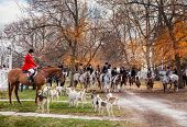 Shaker Village of Pleasant Hill - November 24: Traditional ceremony of blessing of the hounds and fo
