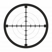 stock photo of sniper  - sniper black finder target illustration bull eye - JPG