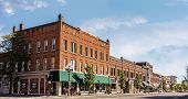 stock photo of quaint  - A photo of a typical small town main streetin the United States of America - JPG