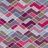 Abstract geometric patchwork pattern