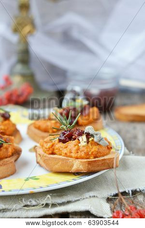 Bruschetta With Pampkin