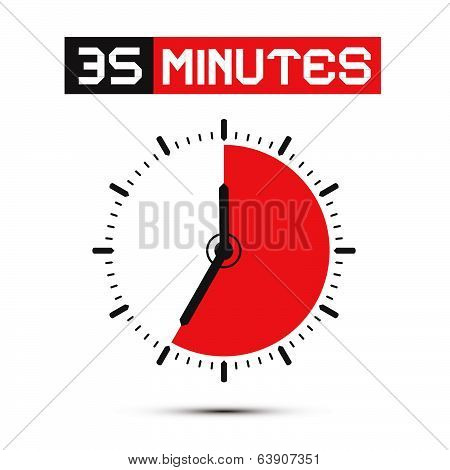 Forty Minutes Watch - Clock Vector Illustration