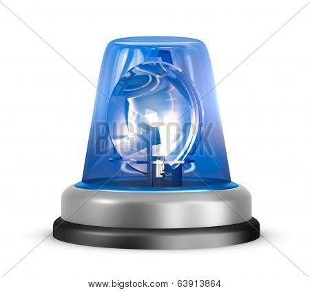 Blue flasher icon. Isolated on white