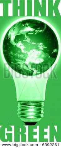Think Green Lightbulb