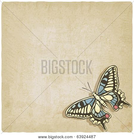 butterfly machaon old background