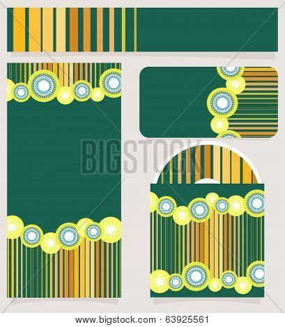 Branding Design Striped Set