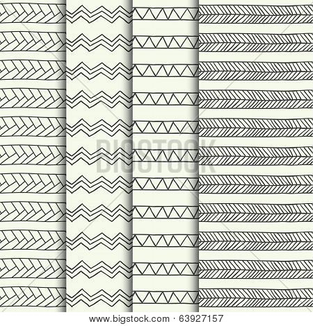 Set of hand drawn textures