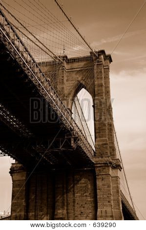 Brooklyn Brücke In Sepia