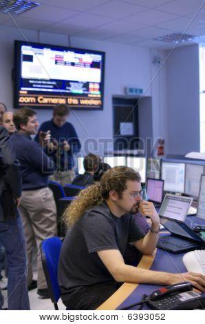 CERN ATLAS experiment control room