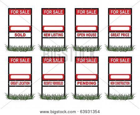 Real Estate For Sale Sign Standard