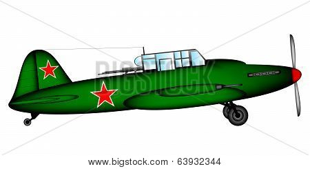 Russian Historic Tactical Plane Ilyushin Il-2