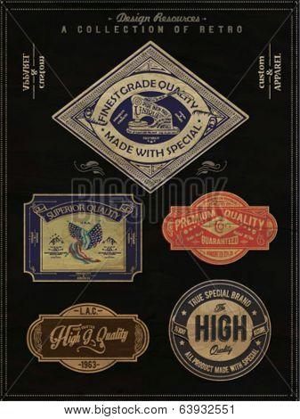 vintage retro label brand template