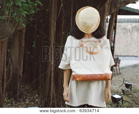 Young Woman With A Canvas Bag
