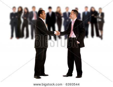 Geschäft Hand shake