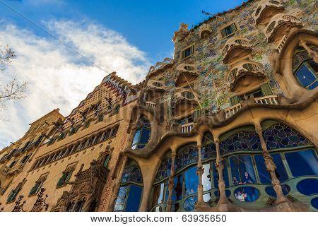 Art Nouveau by architect Gaudi in Barcelona, Spain