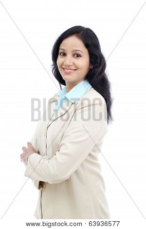 Young Business Woman With Arms Crossed