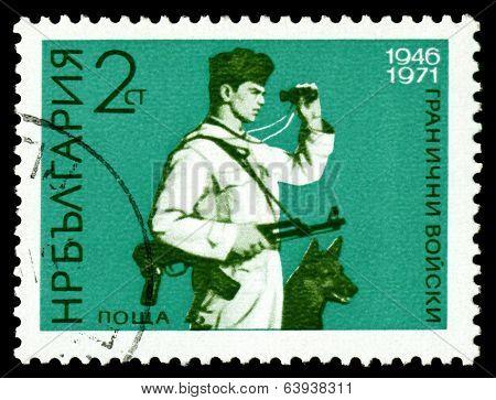 Vintage Postage Stamp. Frontiersmen.
