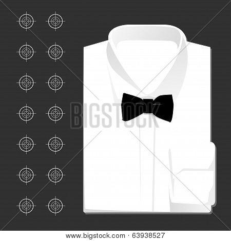 Vector classic white shirt