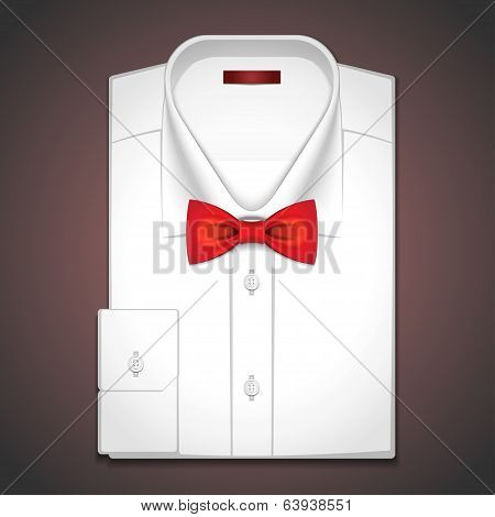 Vector illustration of a classic white shirt