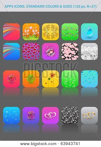 Collection of different app icons