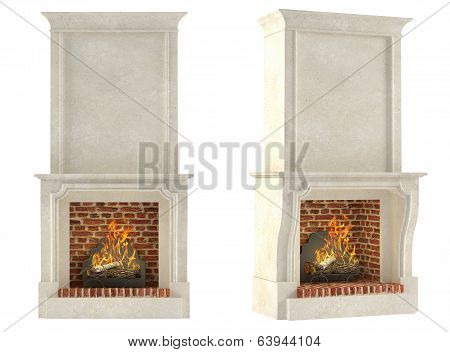 Fireplace isolated