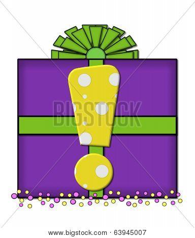 Alphabet Birthday Box Exclamation