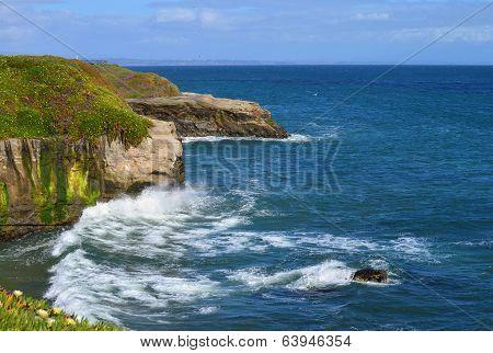 Santa Cruz's rocky coastline.