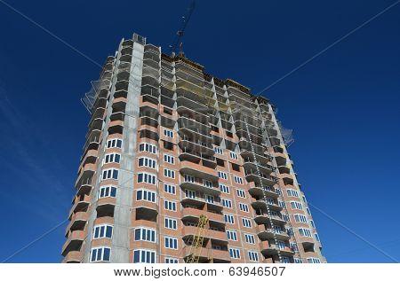 KIEV, UKRAINE -APR 25, 2014: Modern residential area. Building construction  .April 25, 2014 Kiev, Ukraine