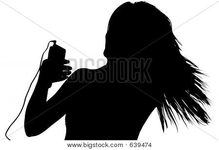 Silhouette With Clipping Path Digital Music