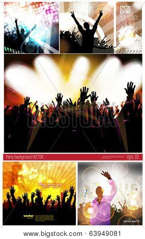 Big set of concert poster, Vector