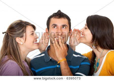 Women Telling A Secret