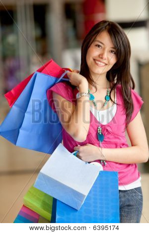 Shopping Woman At The Mall
