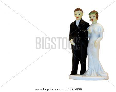 Antique Ceramic Wedding Cake Topper
