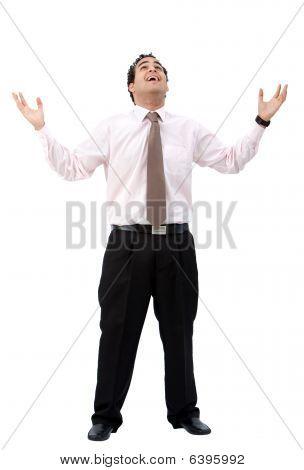 Business Man Standing - Success