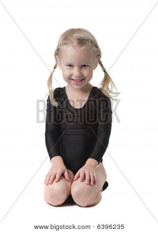 Little Beautiful Gymnast Girl