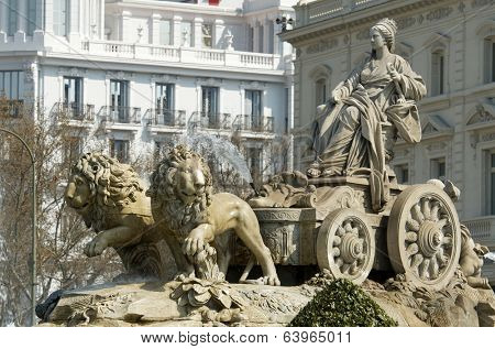 forefront of the Cibeles fountain, Madrid, Spain