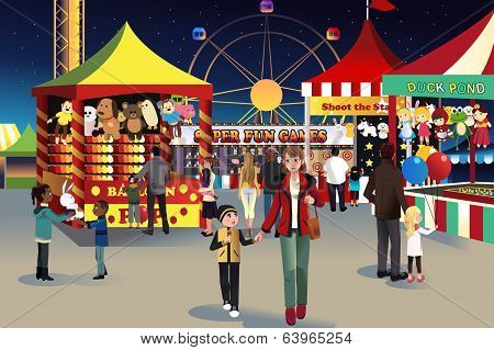 Summer Night Outdoor Fair