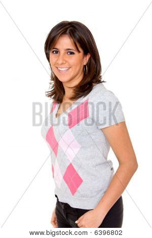 Casual Woman Standing