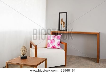 Bright White Sofa Seat
