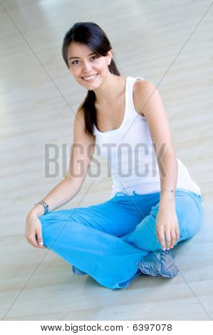 Mulher na mulher do ginásio
