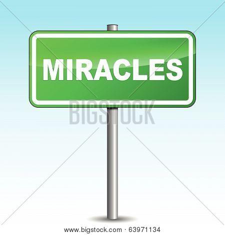Vector Miracles Signpost