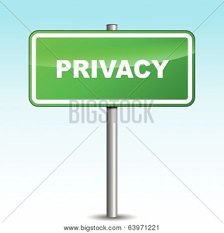 Vector Privacy Signpost