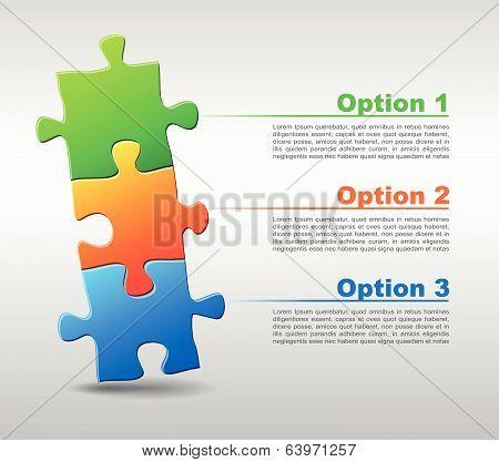Vector Puzzle Three Pieces