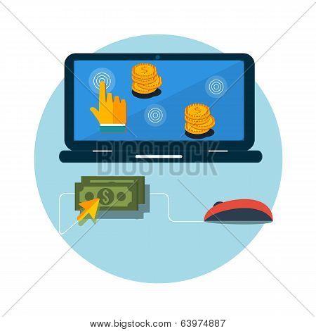 Pay Per Click Internet Advertising Model