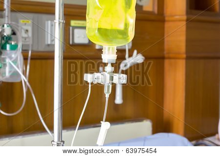 Infusion Bottle With Saline Solution