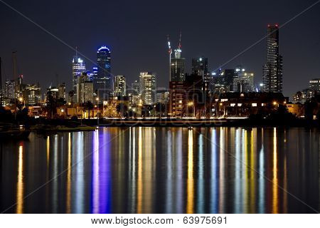 Might skyline of Melbourne, Australia