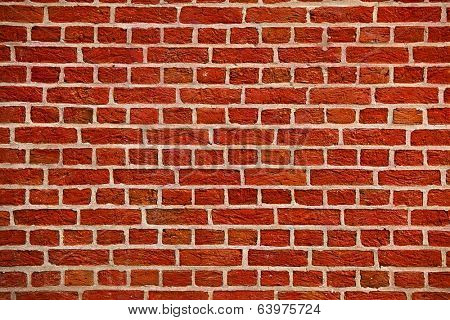 Bare brick wall texture closeup
